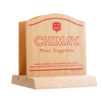 Chimay : Socle en bois sousbock