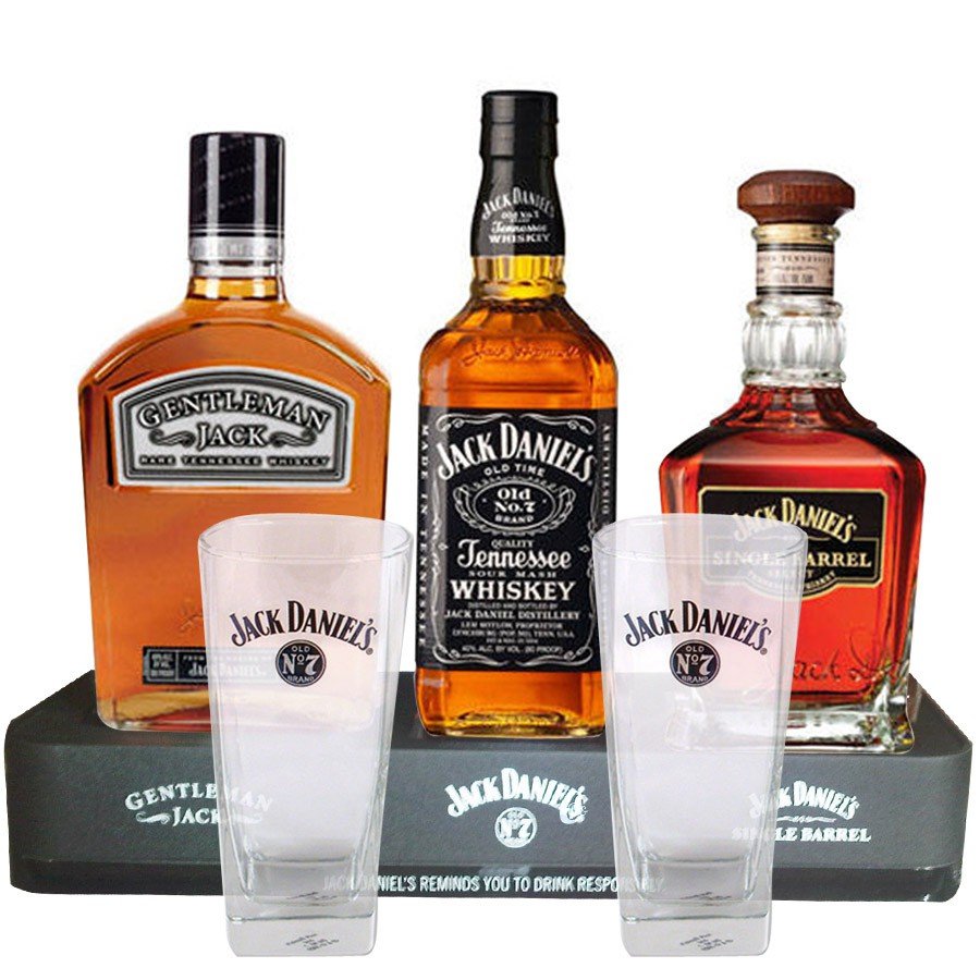 coffret whisky family jack daniel 39 s 2 verres 1 pr sentoir offert. Black Bedroom Furniture Sets. Home Design Ideas