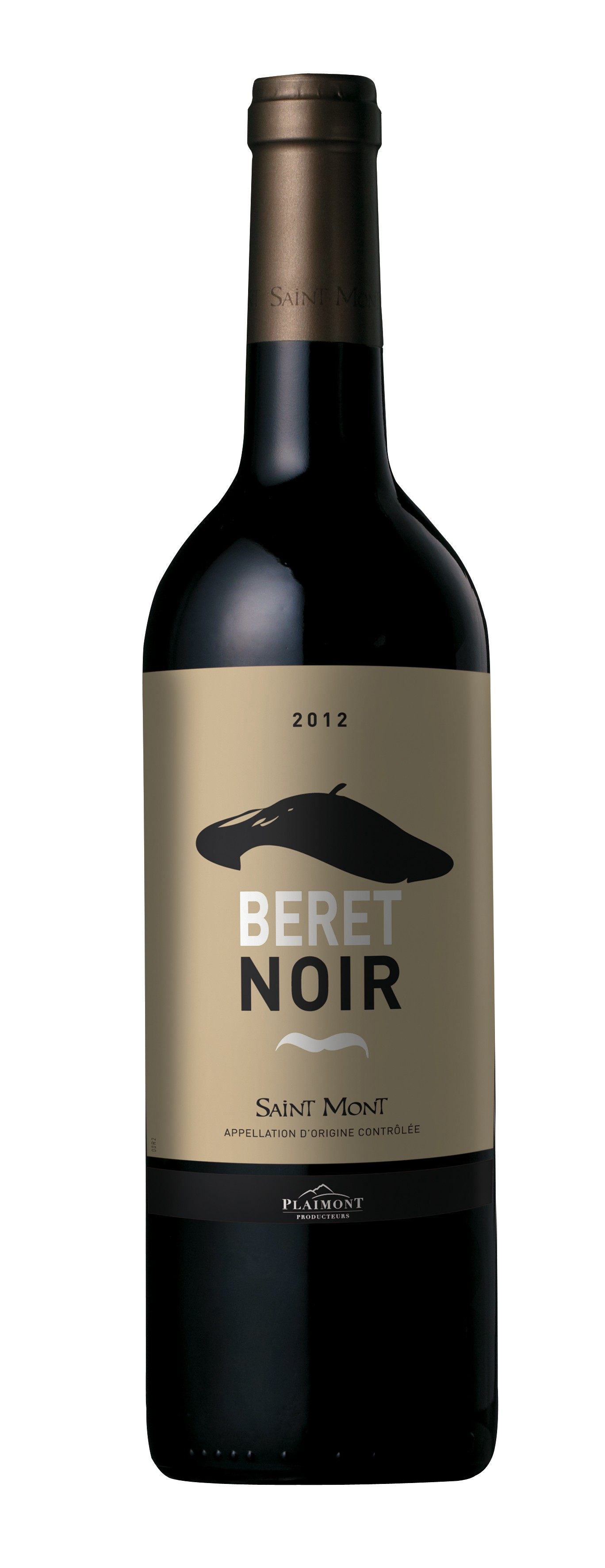 bouteille de vin beret noir saint mont rouge vp75. Black Bedroom Furniture Sets. Home Design Ideas