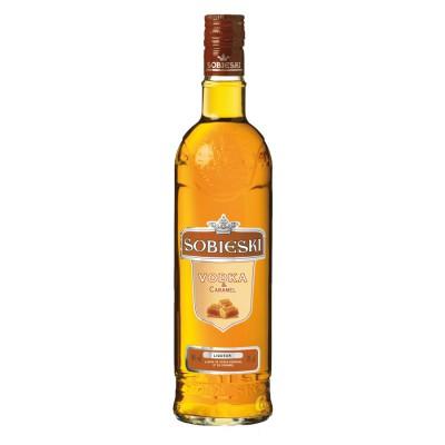 Bouteille de liqueur Sobieski et caramel 18° 70cl