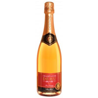 Bouteille de champagne ROSE DEHU 75CL