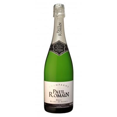 Bouteille de champagne PAUL ROMAIN BLANC DE BLANC 75cL