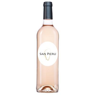 Bouteille de vin rosé San Pieru IGP île de beauté 75cl.