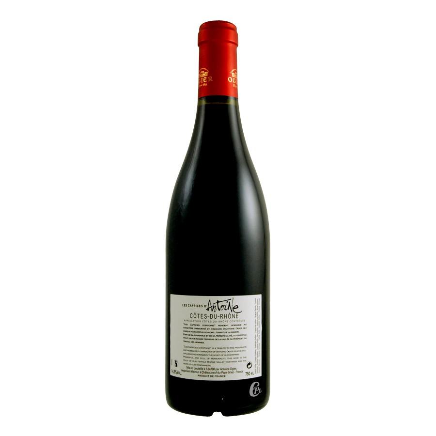 bouteille de vin cote du rhone rouge les caprices d. Black Bedroom Furniture Sets. Home Design Ideas