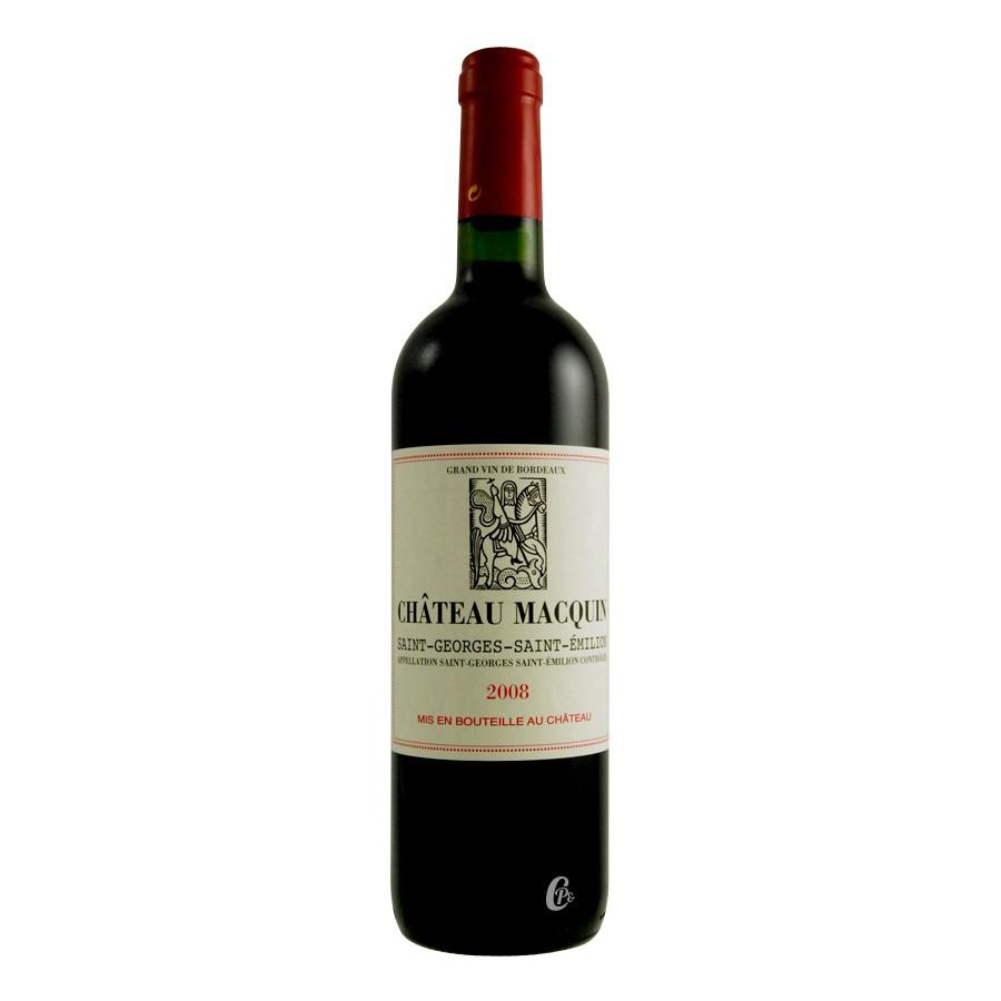 bouteille de vin rouge st emilion chateau macquin 75cl aoc. Black Bedroom Furniture Sets. Home Design Ideas