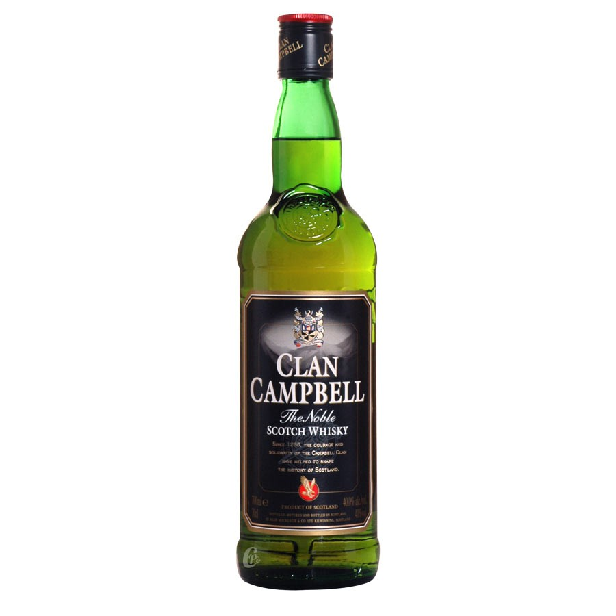 bouteille de whisky clan campbell 40 70 cl. Black Bedroom Furniture Sets. Home Design Ideas