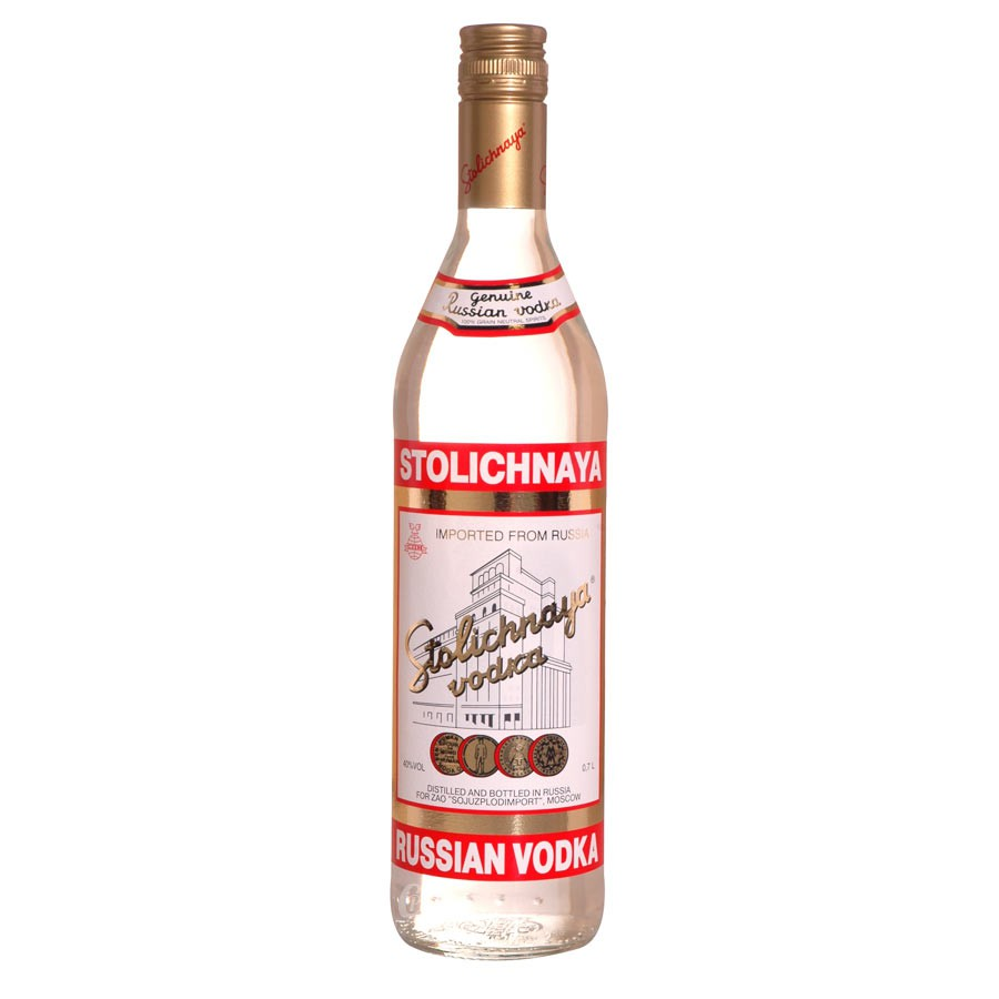 Bouteille de vodka Stolichnaya red 40° 70cl