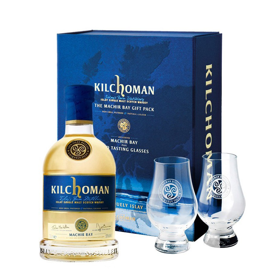 coffret whisky kilchoman single malt machir bay avec 2. Black Bedroom Furniture Sets. Home Design Ideas