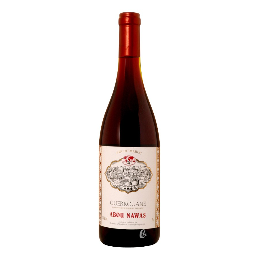 bouteille de vin rouge guerouane abou nawas 0 75l. Black Bedroom Furniture Sets. Home Design Ideas