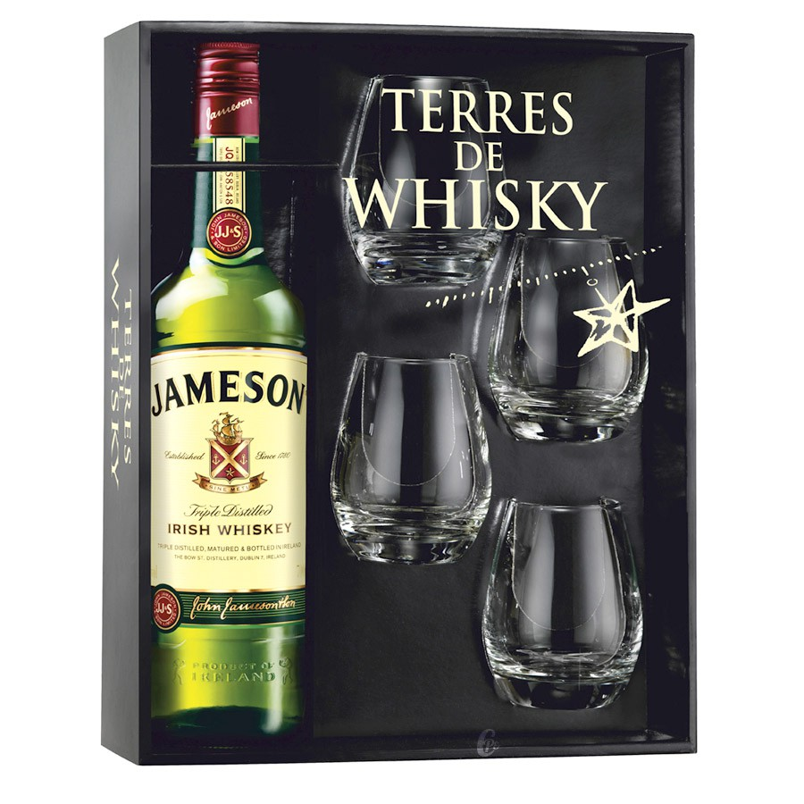 coffret terres de whisky jameson irish whiskey 70 cl 4. Black Bedroom Furniture Sets. Home Design Ideas