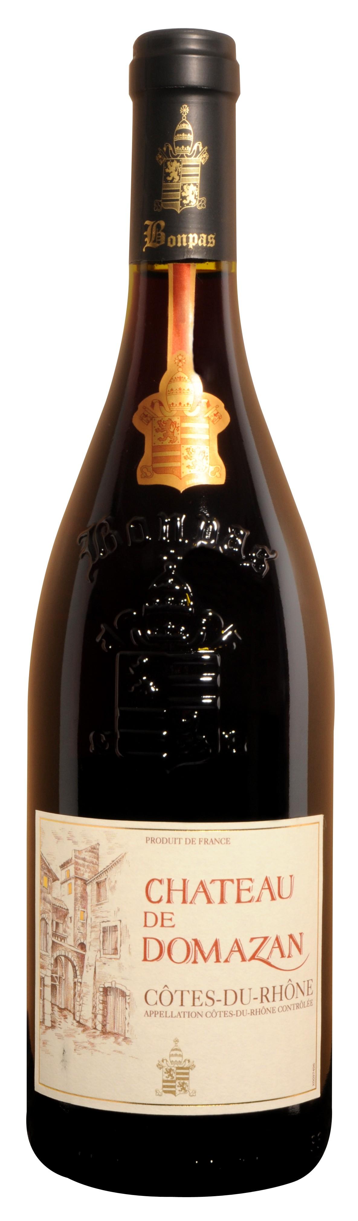 bouteille de vin cote du rhone ch teau domazon aoc. Black Bedroom Furniture Sets. Home Design Ideas