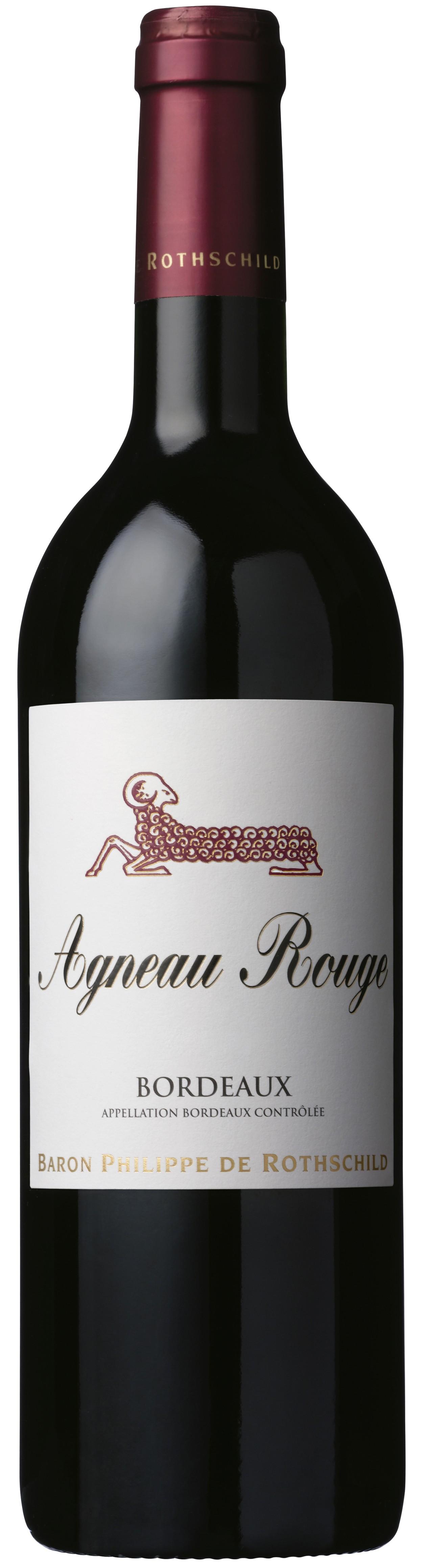 Bouteille de vin agneau rouge bordeaux aoc 75 cl for Bouteille de vin personnalisee montreal