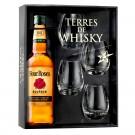 Coffret Terres de Whisky Four Roses Bourbon 70 cl + 4 verres