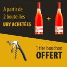 Offre A partir de 2 UBY Rosé acheté 1 Décapsuleur Offert