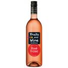 Bouteille de vin F&Wine rose fraise 75cl Moncigale