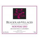 Bouteille de vin rouge Beaujolais Village Nouveau Gilles Gelin 75cl
