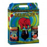 Bouteille de bière Delirium Noel 33clx4 et 1verre