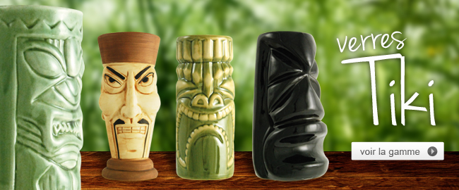 Verres à cocktail tiki