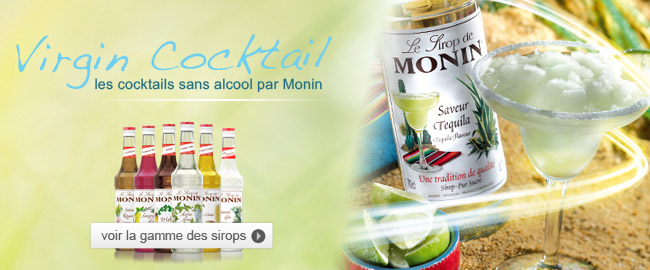 Cocktail Virgin Monin, Cocktail sans alcool