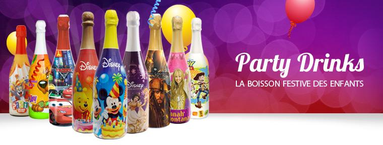 party drink - la boisson festive sans alcool pour enfants.