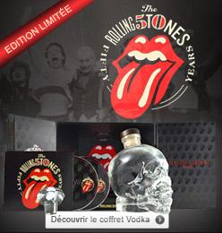 Coffret Anniversaire Rolling Stones 50ans - Vodka Crystal head
