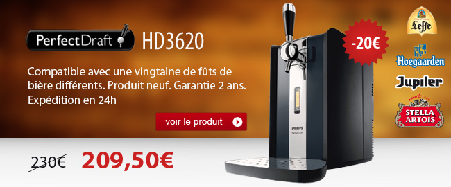 Promotion sur la Perfectdraft HD3620 de Philips